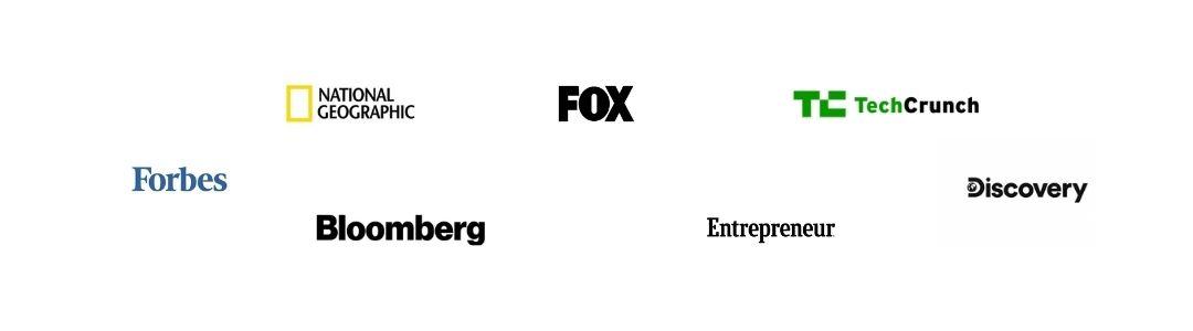 Imagen de la presencia en medios que tiene Incluyeme.com como FOX, National Geografic, entre otros.